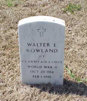 ROWLAND (VETERAN WWII), WALTER E - Pulaski County, Arkansas   WALTER E ROWLAND (VETERAN WWII) - Arkansas Gravestone Photos