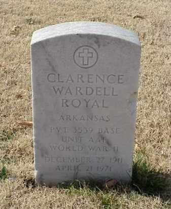 ROYAL (VETERAN WWII), CLARENCE WARDELL - Pulaski County, Arkansas | CLARENCE WARDELL ROYAL (VETERAN WWII) - Arkansas Gravestone Photos