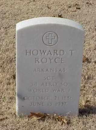 ROYCE (VETERAN WWI), HOWARD T) - Pulaski County, Arkansas   HOWARD T) ROYCE (VETERAN WWI) - Arkansas Gravestone Photos