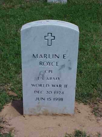 ROYCE (VETERAN WWII), MARLIN E - Pulaski County, Arkansas | MARLIN E ROYCE (VETERAN WWII) - Arkansas Gravestone Photos