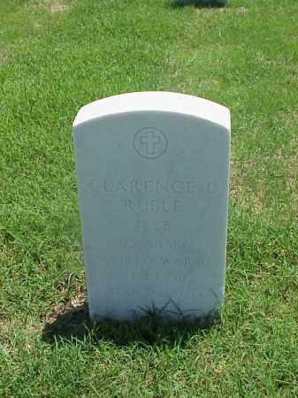 RUBLE (VETERAN WWII), CLARENCE L - Pulaski County, Arkansas   CLARENCE L RUBLE (VETERAN WWII) - Arkansas Gravestone Photos