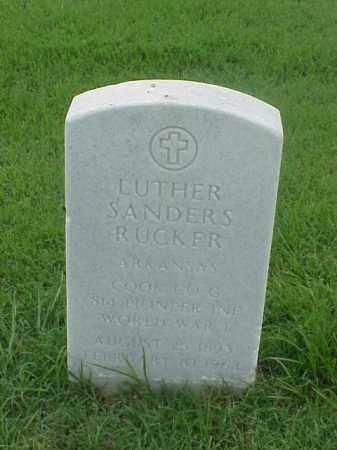 RUCKER (VETERAN WWI), LUTHER SANDERS - Pulaski County, Arkansas | LUTHER SANDERS RUCKER (VETERAN WWI) - Arkansas Gravestone Photos