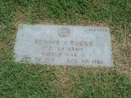 RUCKS (VETERAN WWII), BENNIE J - Pulaski County, Arkansas | BENNIE J RUCKS (VETERAN WWII) - Arkansas Gravestone Photos