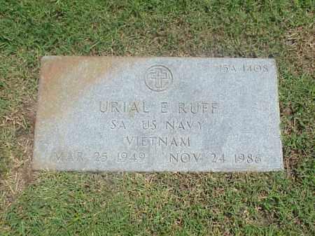 RUFF (VETERAN VIET), URIAL E - Pulaski County, Arkansas | URIAL E RUFF (VETERAN VIET) - Arkansas Gravestone Photos