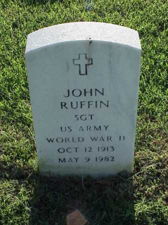 RUFFIN (VETERAN WWII), JOHN - Pulaski County, Arkansas   JOHN RUFFIN (VETERAN WWII) - Arkansas Gravestone Photos