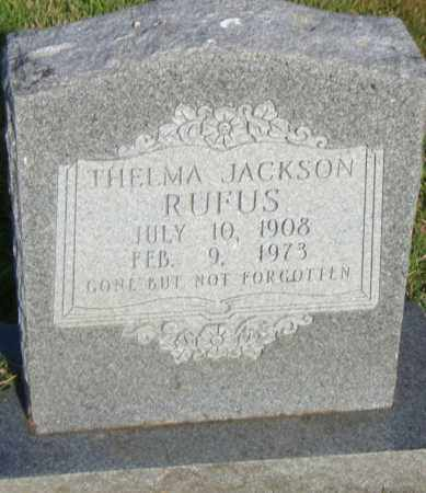 JACKSON RUFUS, THELMA - Pulaski County, Arkansas | THELMA JACKSON RUFUS - Arkansas Gravestone Photos