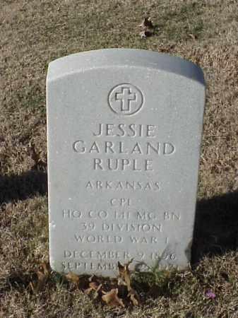 RUPLE (VETERAN WWI), JESSIE GARLAND - Pulaski County, Arkansas | JESSIE GARLAND RUPLE (VETERAN WWI) - Arkansas Gravestone Photos