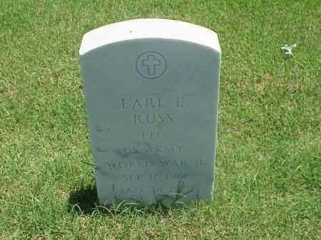 RUSS (VETERAN WWII), EARL E - Pulaski County, Arkansas   EARL E RUSS (VETERAN WWII) - Arkansas Gravestone Photos
