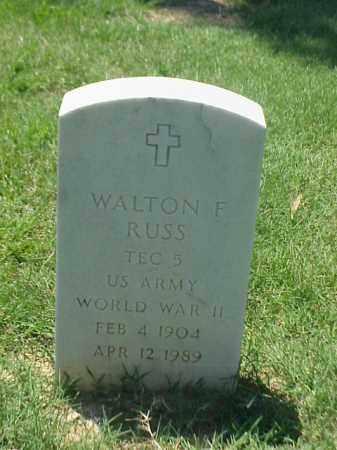 RUSS (VETERAN WWII), WALTON F - Pulaski County, Arkansas   WALTON F RUSS (VETERAN WWII) - Arkansas Gravestone Photos