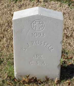 RUSSELL (VETERAN CSA), S J - Pulaski County, Arkansas | S J RUSSELL (VETERAN CSA) - Arkansas Gravestone Photos