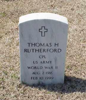 RUTHERFORD (VETERAN WWII), THOMAS H - Pulaski County, Arkansas   THOMAS H RUTHERFORD (VETERAN WWII) - Arkansas Gravestone Photos