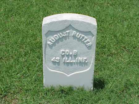 RUTTER (VETERAN UNION), AUGUST - Pulaski County, Arkansas | AUGUST RUTTER (VETERAN UNION) - Arkansas Gravestone Photos