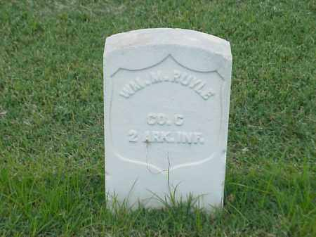 RUYLE (VETERAN UNION), WILLIAM M - Pulaski County, Arkansas | WILLIAM M RUYLE (VETERAN UNION) - Arkansas Gravestone Photos