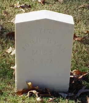 RYAN (VETERAN CSA), JOHN - Pulaski County, Arkansas | JOHN RYAN (VETERAN CSA) - Arkansas Gravestone Photos