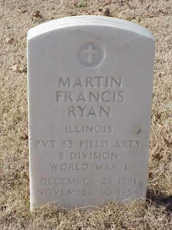 RYAN (VETERAN WWI), MARTIN FRANCIS - Pulaski County, Arkansas | MARTIN FRANCIS RYAN (VETERAN WWI) - Arkansas Gravestone Photos