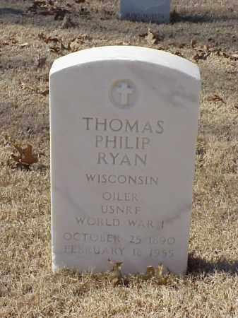 RYAN (VETERAN WWI), THOMAS PHILIP - Pulaski County, Arkansas | THOMAS PHILIP RYAN (VETERAN WWI) - Arkansas Gravestone Photos