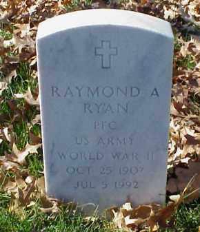 RYAN (VETERAN WWII), RAYMOND A - Pulaski County, Arkansas   RAYMOND A RYAN (VETERAN WWII) - Arkansas Gravestone Photos