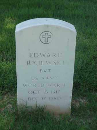 RYJEWSKI (VETERAN WWII), EDWARD - Pulaski County, Arkansas | EDWARD RYJEWSKI (VETERAN WWII) - Arkansas Gravestone Photos