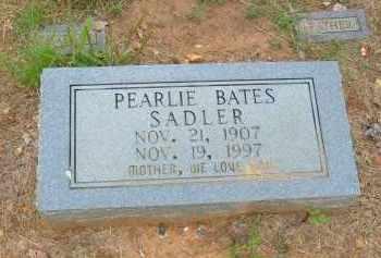 PARKER SADLER (BATES), PEARLIE - Pulaski County, Arkansas | PEARLIE PARKER SADLER (BATES) - Arkansas Gravestone Photos