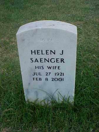 SAENGER, HELEN J - Pulaski County, Arkansas | HELEN J SAENGER - Arkansas Gravestone Photos