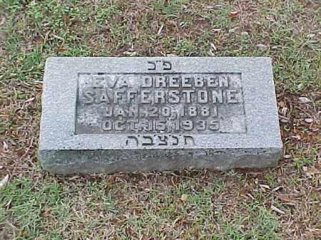 DREEBEN SAFFERSTONE, EVA - Pulaski County, Arkansas   EVA DREEBEN SAFFERSTONE - Arkansas Gravestone Photos