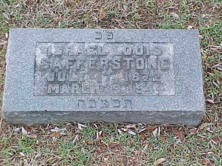 SAFFERSTONE, ISRAEL LOUIS - Pulaski County, Arkansas | ISRAEL LOUIS SAFFERSTONE - Arkansas Gravestone Photos