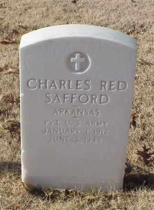 SAFFORD (VETERAN WWII), CHARLES RED - Pulaski County, Arkansas | CHARLES RED SAFFORD (VETERAN WWII) - Arkansas Gravestone Photos