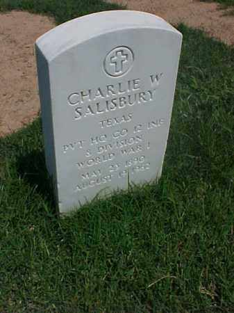 SALISBURY (VETERAN WWI), CHARLIE W - Pulaski County, Arkansas | CHARLIE W SALISBURY (VETERAN WWI) - Arkansas Gravestone Photos