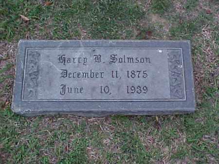 SALMSON, HARRY B - Pulaski County, Arkansas   HARRY B SALMSON - Arkansas Gravestone Photos