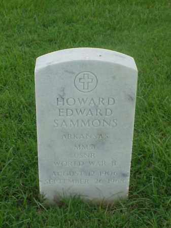 SAMMONS (VETERAN WWII), HOWARD EDWARD - Pulaski County, Arkansas   HOWARD EDWARD SAMMONS (VETERAN WWII) - Arkansas Gravestone Photos