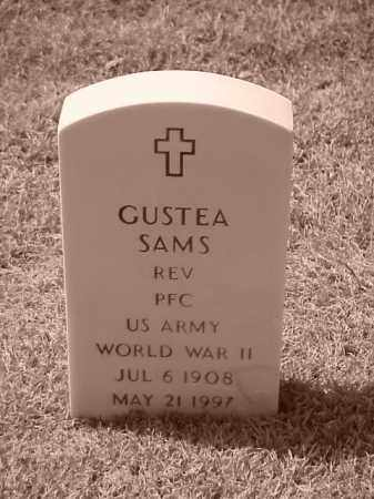 SAMS (VETERAN WWII), GUSTEA - Pulaski County, Arkansas | GUSTEA SAMS (VETERAN WWII) - Arkansas Gravestone Photos