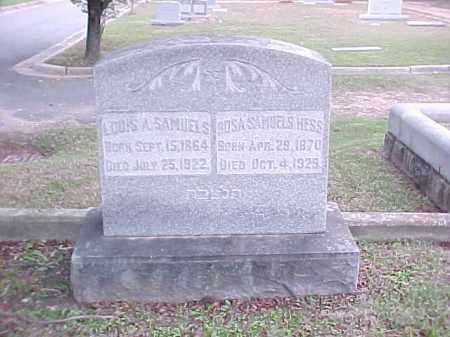 SAMUELS, LOUIS A - Pulaski County, Arkansas | LOUIS A SAMUELS - Arkansas Gravestone Photos