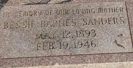 BARNES SANDERS, BESSIE - Pulaski County, Arkansas   BESSIE BARNES SANDERS - Arkansas Gravestone Photos