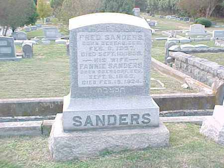 SANDERS, FRED - Pulaski County, Arkansas | FRED SANDERS - Arkansas Gravestone Photos