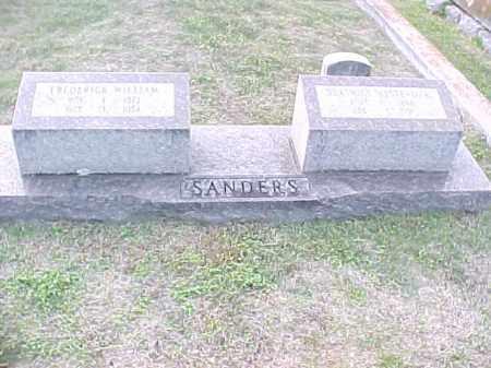 SANDERS, FREDERICK WILLAIM - Pulaski County, Arkansas | FREDERICK WILLAIM SANDERS - Arkansas Gravestone Photos