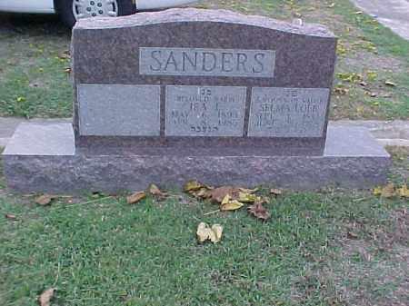 SANDERS, IRA E - Pulaski County, Arkansas   IRA E SANDERS - Arkansas Gravestone Photos