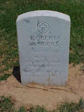 SANDERS (VETERAN WWI), ROBERT - Pulaski County, Arkansas | ROBERT SANDERS (VETERAN WWI) - Arkansas Gravestone Photos