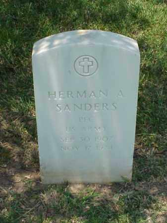 SANDERS (VETERAN WWII), HERMAN A - Pulaski County, Arkansas | HERMAN A SANDERS (VETERAN WWII) - Arkansas Gravestone Photos