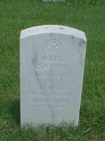 SANDS (VETERAN WWI), WADE - Pulaski County, Arkansas | WADE SANDS (VETERAN WWI) - Arkansas Gravestone Photos