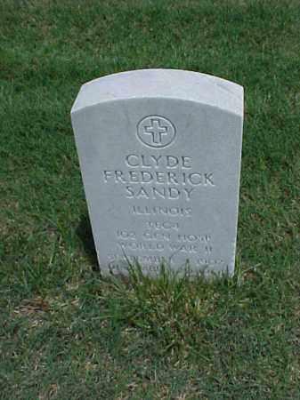 SANDY (VETERAN WWII), CLYDE FREDERICK - Pulaski County, Arkansas | CLYDE FREDERICK SANDY (VETERAN WWII) - Arkansas Gravestone Photos