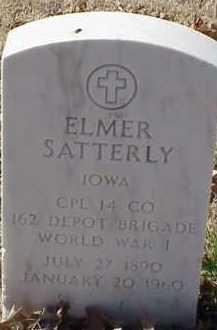 SATERLY  (VETERAN WWI), ELMER - Pulaski County, Arkansas   ELMER SATERLY  (VETERAN WWI) - Arkansas Gravestone Photos