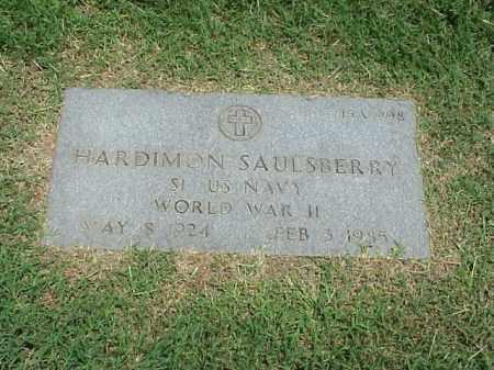 SAULSBERRY (VETERAN WWII), HARDIMON - Pulaski County, Arkansas | HARDIMON SAULSBERRY (VETERAN WWII) - Arkansas Gravestone Photos