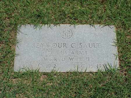 SAULT (VETERAN WWII), SEYMOUR C - Pulaski County, Arkansas | SEYMOUR C SAULT (VETERAN WWII) - Arkansas Gravestone Photos
