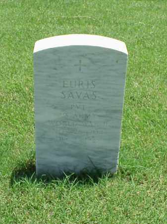 SAVAS (VETERAN WWII), EURIS - Pulaski County, Arkansas   EURIS SAVAS (VETERAN WWII) - Arkansas Gravestone Photos