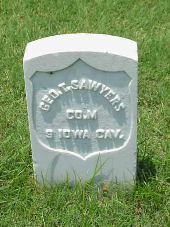 SAWYERS (VETERAN UNION), GEORGE T - Pulaski County, Arkansas | GEORGE T SAWYERS (VETERAN UNION) - Arkansas Gravestone Photos