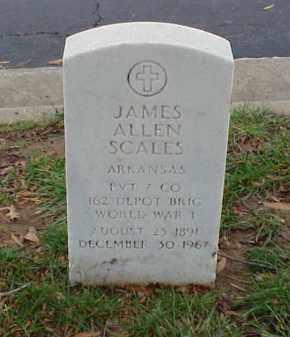 SCALES (VETERAN WWI), JAMES ALLEN - Pulaski County, Arkansas   JAMES ALLEN SCALES (VETERAN WWI) - Arkansas Gravestone Photos