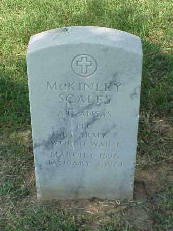 SCALES (VETERAN WWI), MCKINLEY - Pulaski County, Arkansas | MCKINLEY SCALES (VETERAN WWI) - Arkansas Gravestone Photos