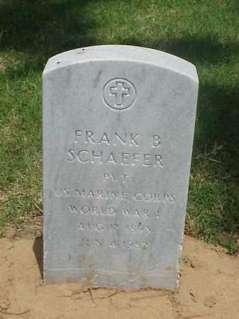 SCHAEFER (VETERAN WWI), FRANK B - Pulaski County, Arkansas | FRANK B SCHAEFER (VETERAN WWI) - Arkansas Gravestone Photos