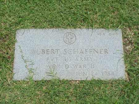 SCHAFFNER (VETERAN WWII), ALBERT - Pulaski County, Arkansas | ALBERT SCHAFFNER (VETERAN WWII) - Arkansas Gravestone Photos