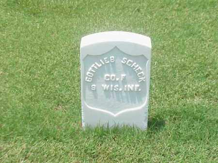 SCHECK (VETERAN UNION), GOTTLIEB - Pulaski County, Arkansas   GOTTLIEB SCHECK (VETERAN UNION) - Arkansas Gravestone Photos